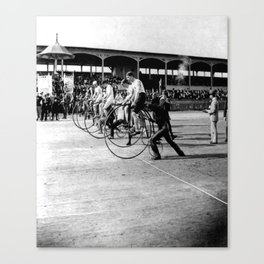 Bicycle race Canvas Print