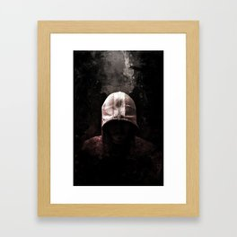 Modern Assassin Hood - Color Framed Art Print
