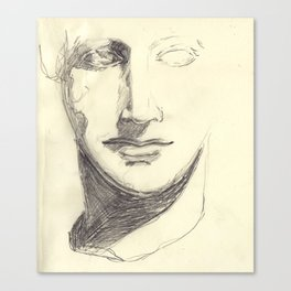 Head of a Goddess - sketch Canvas Print