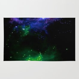 The Cosmos (blue and green) Rug