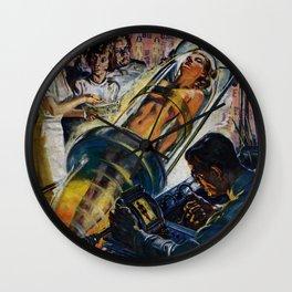 Vintage Sci-Fi (Science Fiction) Illustration Wall Clock