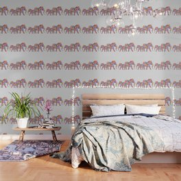 Floral Elephants Wallpaper