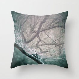 Spider Tree Throw Pillow
