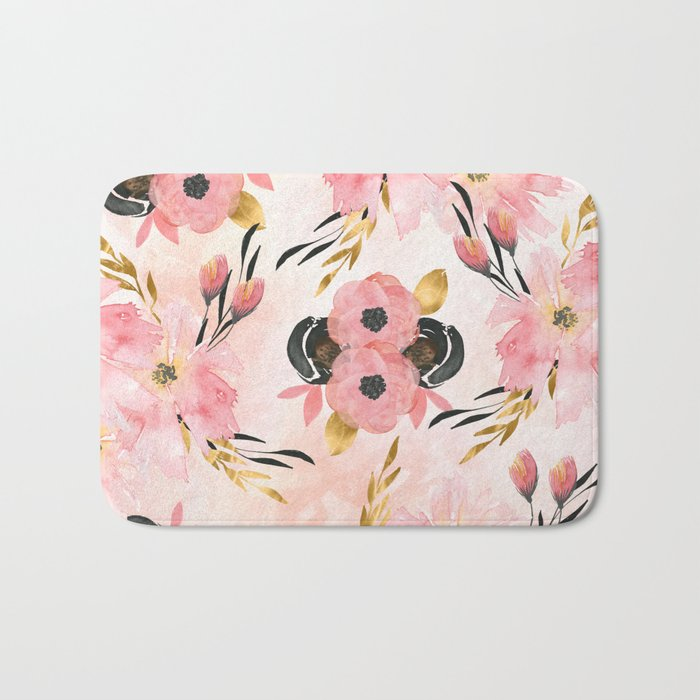 night meadow blush pink bath mat by naturemagick society6