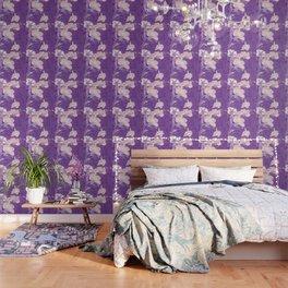 Japanese FLowers Purple Pink Wallpaper