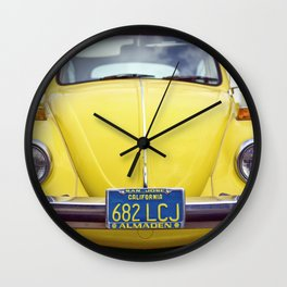 Punchbuggy Yellow Wall Clock