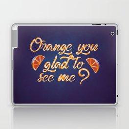 Orange You Glad to See Me? Laptop & iPad Skin