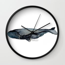 whale time Walzeit Wall Clock