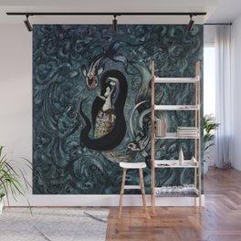 Electric Mermaid Wall Mural