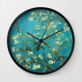 Vincent Van Gogh Blossoming Almond Tree Wall Clock