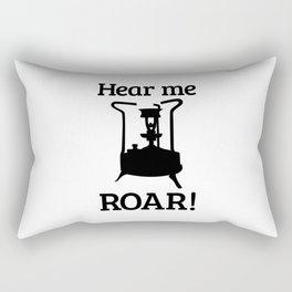 Brass Stove, HEAR ME ROAR Rectangular Pillow