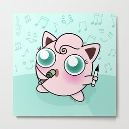 Cute Jiggly puff Metal Print