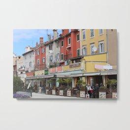 Square in Rovinj, Croatia Metal Print