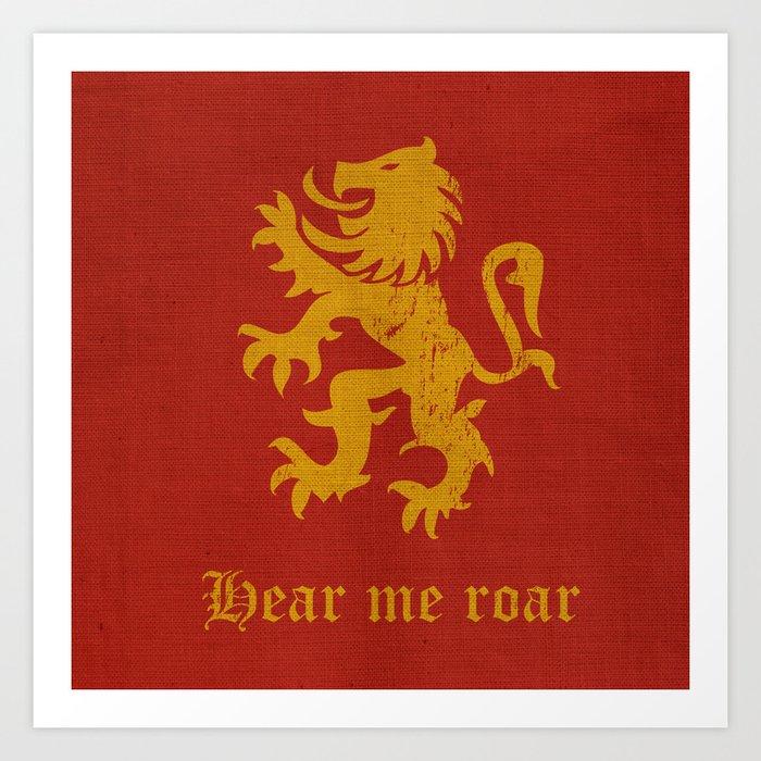 Medieval Fantasy | Lion banner  Art Print