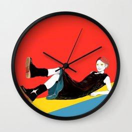 sae-orange Wall Clock