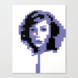 8 Bit Portrait of a Girl Canvas Print