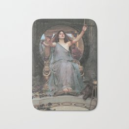 Circe Offering the Cup to Ulysses, John William Waterhouse Bath Mat