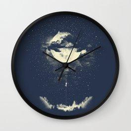 MOON CLIMBING Wall Clock