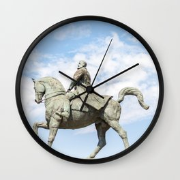 Roumania, Equestrian Statue Of Charles I, Bucarest Wall Clock