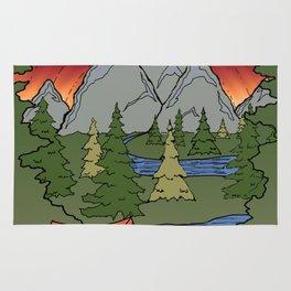 Camp Illustration Rug