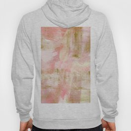 Rustic Gold and Pink Abstract Hoody