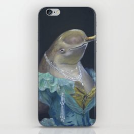 MADAME NARWHAL, by Frank-Joseph iPhone Skin