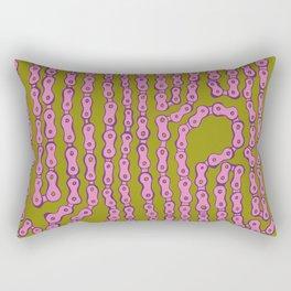 Bike Chain - Puke Pink Rectangular Pillow