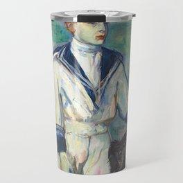 """Henri de Toulouse-Lautrec """"L'Enfant au chien, fils de Madame Marthe et la chienne Pamela-Taussat"""" Travel Mug"""