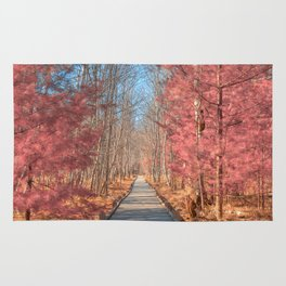 Jesup Boardwalk Trail - Tickle Me Pink Rug