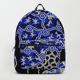 Turtles - Sea Turtle Dreaming - Aboriginal Art Backpack