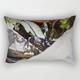 Peeking Snake Rectangular Pillow