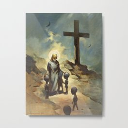 Jesus Christ Blessing the Grays Metal Print