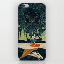 THE GIANT AND THE FISHERMAN iPhone Skin
