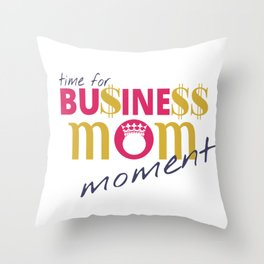 Business Mom Lifestyle Throw Pillow