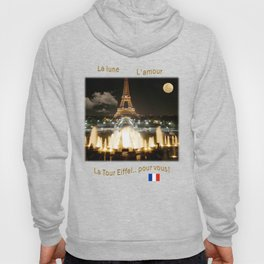 Eiffel Tower at Night Hoody