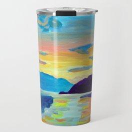 Crossing Lake Okanagan Travel Mug