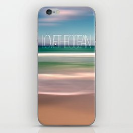LOVE THE OCEAN II iPhone Skin