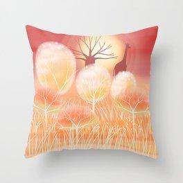 Treescape 4 Throw Pillow