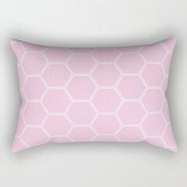 Honeycomb - Light Pink #326 Rectangular Pillow