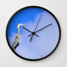 Wild and Blue Wall Clock