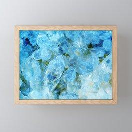 Blue Crystal Geode Art Framed Mini Art Print