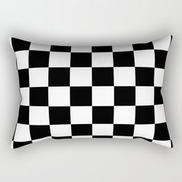 Black & White Checker Checkerboard Checkers Rectangular Pillow