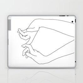 Hands line drawing - Robin Laptop & iPad Skin