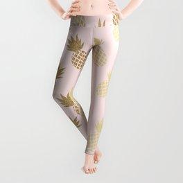 Pink & Gold Pineapples Leggings
