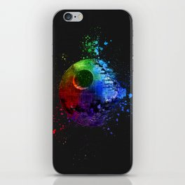 Death Star Abstract Painting - Colorful StarWars Art iPhone Skin