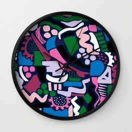 Dark colour scatter Wall Clock