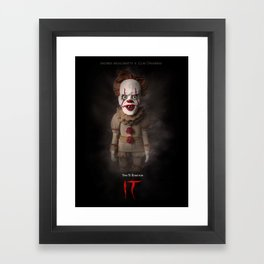It (2017) Alternative Movie Poster Framed Art Print