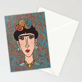 Flowery Frida Stationery Cards