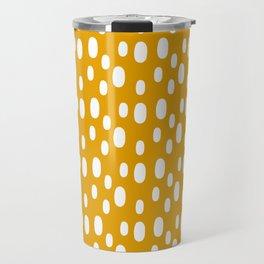 Yellow pattern with white spots Travel Mug