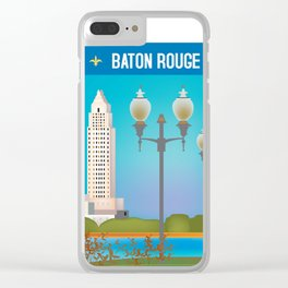 Baton Rouge, Louisiana - Skyline Illustration by Loose Petals Clear iPhone Case